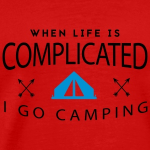 Camping: when life is complicated Tank Tops - Camiseta premium hombre