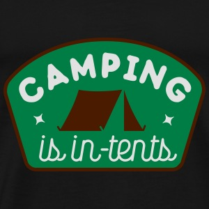 camping is in-tents Toppe - Herre premium T-shirt