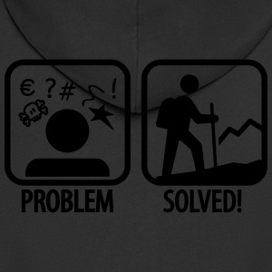 hiking: problem solved T-Shirts - Männer Premium Kapuzenjacke