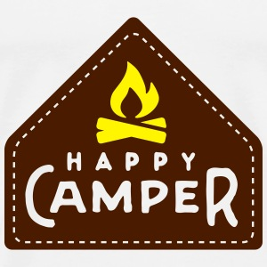 happy camper Tops - Mannen Premium T-shirt