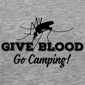 give blood go camping Tank Tops - Herre premium T-shirt
