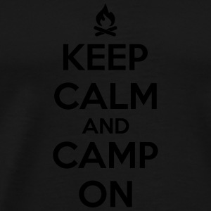 camping: keep calm and camp on Tanktops - Mannen Premium T-shirt