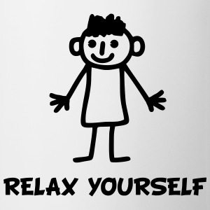stick figure relax T-Shirts - Mug