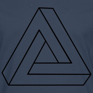 Impossible Triangle 3D Sweat-shirts - T-shirt manches longues Premium Homme