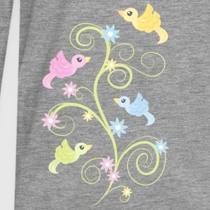 Birds and Flowers - Männer Premium Langarmshirt