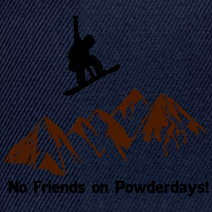 No. of friends on Powder days - Snapback Cap