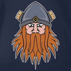 Viking Face Shirts - Organic Short-sleeved Baby Bodysuit