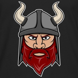 Viking Warrior Head Shirts - Men's Premium Longsleeve Shirt