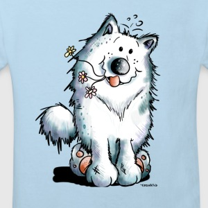 Cute Samoyed Dog Baby Bodysuits - Kids' Organic T-shirt