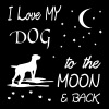 love my dog to the moon T-Shirts - Frauen Premium T-Shirt