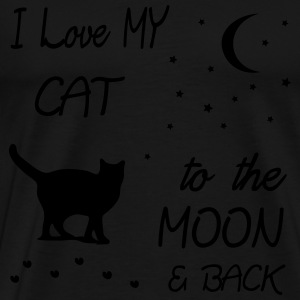 love my cat to the moon Pullover & Hoodies - Männer Premium T-Shirt