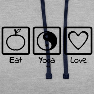 Eat Yoga Love Trio - Sweat-shirt contraste