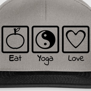 Eat Yoga Love Trio - Casquette snapback