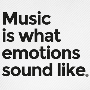 Music is what emotions sound like - Baseball Cap