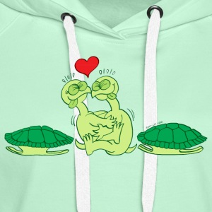 Naked Turtles Making Love T-Shirts - Women's Premium Hoodie