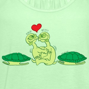 Naked Turtles Making Love T-Shirts - Women's Tank Top by Bella