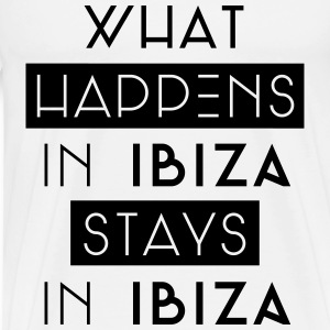 what happens in ibiza stays in ibiza Langarmshirts - Männer Premium T-Shirt