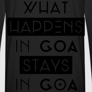 what happens in goa stays in goa Pullover & Hoodies - Männer Premium Langarmshirt