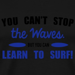 Learn to surf Sweaters - Mannen Premium T-shirt