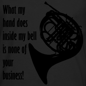 What my hand does inside my bell. T-shirts - Långärmad premium-T-shirt herr