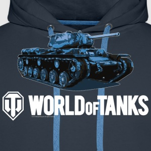 World of Tanks Blue Tank Men T-Shirt - Men's Premium Hoodie
