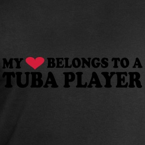 MY HEART BELONGS TO A TUBA PLAYER Tee shirts - Sweat-shirt Homme Stanley & Stella