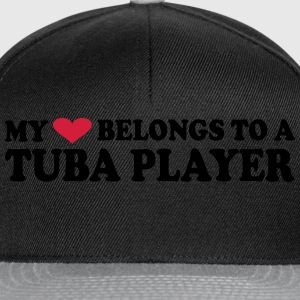 MY HEART BELONGS TO A TUBA PLAYER T-Shirts - Snapback Cap