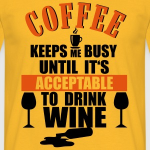Coffee - Wine Tops - Camiseta hombre