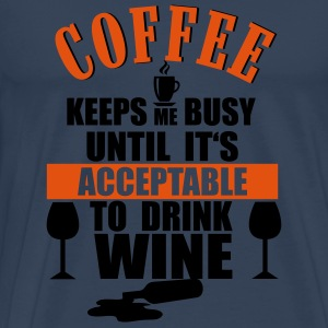 Coffee - Wine Manga larga - Camiseta premium hombre