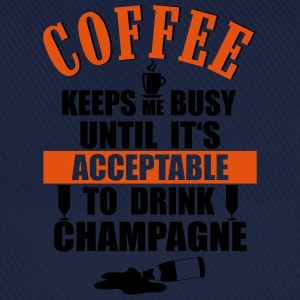 Coffee- Champagne T-Shirts - Baseball Cap