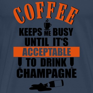 Coffee- Champagne Toppe - Herre premium T-shirt