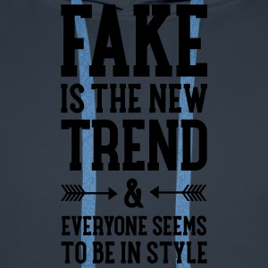 Fake Is The New Trend Tee shirts - Sweat-shirt à capuche Premium pour hommes