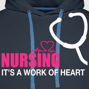 Nursing is a work of heart - Men's Premium Hoodie