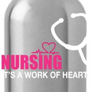 Nursing is a work of heart - Water Bottle