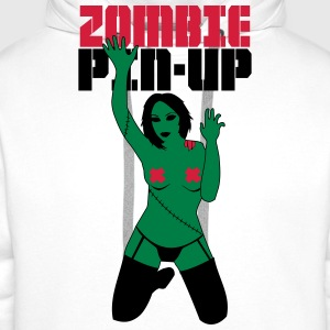 zombie PIN-UP  T-Shirts - Men's Premium Hoodie