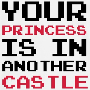 Your Princess is Another Castle / Geek / Gaming Babybody - Premium T-skjorte for menn