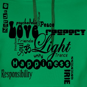 peacelovelight T-Shirts - Männer Premium Hoodie