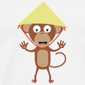 Vietnamese monkey Long Sleeve Shirts - Men's Premium T-Shirt