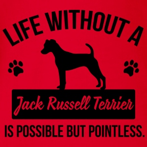 Dog shirt: Life without a Jack Russell = pointless Shirts - Organic Short-sleeved Baby Bodysuit