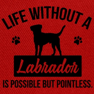Dog shirt: Life without a Labrador is pointless Magliette - Snapback Cap