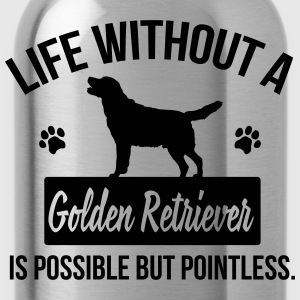 Dog shirt: Life without a Goldie is pointless Långärmade T-shirts - Vattenflaska
