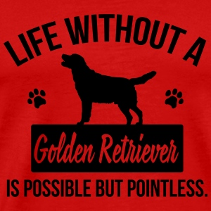 Dog shirt: Life without a Goldie is pointless Långärmade T-shirts - Premium-T-shirt herr