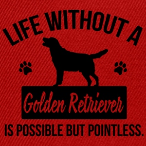 Dog shirt: Life without a Goldie is pointless Långärmade T-shirts - Snapbackkeps
