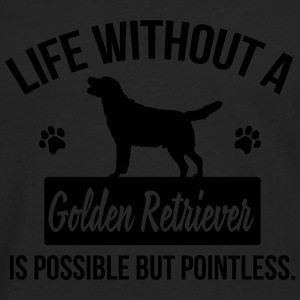 Dog shirt: Life without a Goldie is pointless Tee shirts - T-shirt manches longues Premium Homme