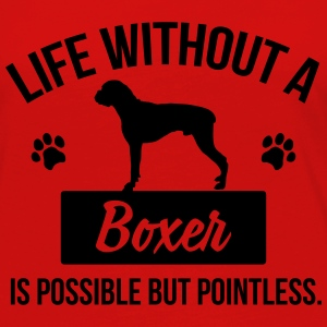 Dog shirt: Life without a Boxer is pointless Tops - Frauen Premium Langarmshirt