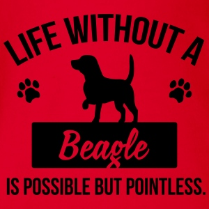 Dog shirt: Life without a Beagle is pointless Tee shirts - Body bébé bio manches courtes