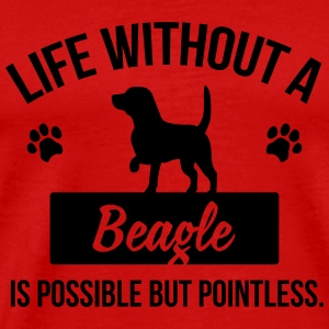 Dog shirt: Life without a Beagle is pointless Maglie a manica lunga - Maglietta Premium da uomo