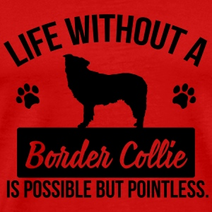 Dog: Life without a Border Collie is pointless Langærmede T-shirts - Herre premium T-shirt