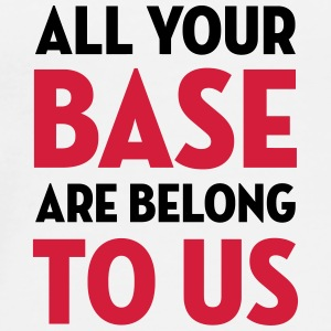 All Your Base Are Belong to Us / Geek / Gaming Kopper & tilbehør - Premium T-skjorte for menn
