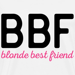 Blonde Best Friend Funny Quote Forklær - Premium T-skjorte for menn
